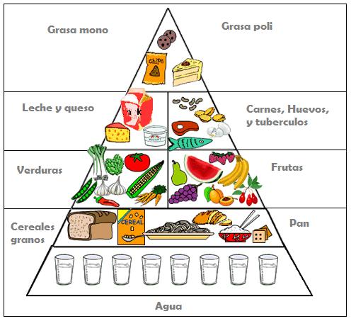 Pirámide dieta para bajar de peso equilibrada